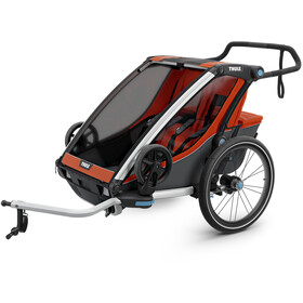 Thule Chariot Cross 2 Sykkelvogn roarange/dark shadow
